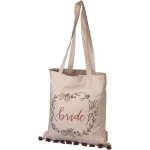 Floral Wreath Design Wedding Bride Cotton Tote Bag from Primitives by Kathy