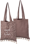 Floral Pattern Maid Of Honor Cotton Tote Bag from Primitives by Kathy