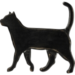 Black Cat Decorative Wooden Hanging Wall Décor from Primitives by Kathy