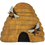 Carved Wooden Beehive Decorative Wall Hanging Décor 11.75 Inch from Primitives by Kathy