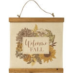 Autumnal Floral Design Welcome Fall Decorative Canvas Hanging Wall Décor Sign 12x12 from Primitives by Kathy