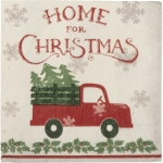 Pack of 20 Small Merry Christmas Truck & Tree Holly Snowflakes Paper Napkins 5 Inch from Primitives by Kathy