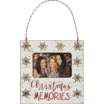 Snowflake Design Christmas Memories Mini Hanging Photo Picture Frame from Primitives by Kathy