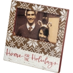 Snowflake Border Design Home For The Holidays Photo Picture Frame (Holds 5x3 Photo) from Primitives by Kathy