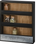 Let's Spice Things Up 3 Shelf Wooden Spice Rack 15x18 from Primitives by Kathy