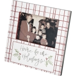 Red & White Checkered Design Home For The Holidays Photo Picture Frame (Holds 6x4 Photo) from Primitives by Kathy