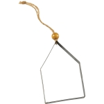 Metal House Shaped Hanging Christmas Ornament 4.25 Inch from Primitives by Kathy