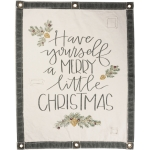 Evergreeen Branch Design Have Yourself A Merry Little Christmas Canvas Wall Hanging 24x30 from Primitives by Kathy