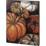 Multicolored Pumpkins Collage Decorative Wooden Wall Décor Sign 20x26 from Primitives by Kathy