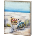 Colorful Beach Bike Decorative Wall Art Wooden Box Sign 10 x 12.5 from Primitives by Kathy