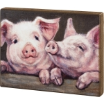 Farm House Pigs Decorative Wooden Wall Décor Sign 14x11 from Primitives by Kathy