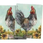 Rooster Themed Spiral Notebook (120 Pages) from Primitives by Kathy