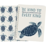 Sea Turtle Be Kind To Every Kind Spiral Notebook (120 Pages) from Primitives by Kathy