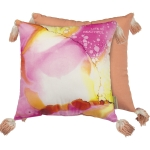 Life Is Beautiful Vibrant Colored Decorative Cotton Throw Pillow 16x16 from Primitives by Kathy