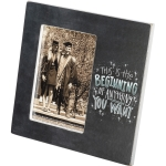 Graduation The Beginning Of Anything You Want Photo Picture Frame (Holds 4x6 Photo) from Primitives by Kathy