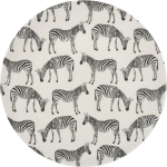 Printed Zebra Design Decorative Stoneware Plate 8.5 Inch Diameter from Primitives by Kathy