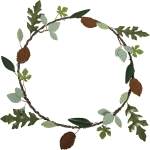 Autumnal Fall Leaves Decorative Metal Wreath 14 Inch from Primitives by Kathy