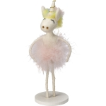 Felt Unicorn Ballerina Figurine 7.25 Inch from Primitives by Kathy
