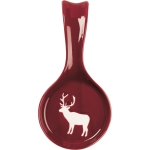 White Deer Design Red Stoneware Kitchen Spoon Rest  from Primitives by Kathy