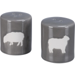 Farm Sheep Design Stoneware Salt & Pepper Shaker Set from Primitives by Kathy