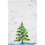 Snowy Evergreen The Happiest Season Of All Cotton Dish Towel 18x28 from Primitives by Kathy