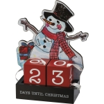 Snowman Themed Days Until Christmas Advent Wooden Block Countdown from Primitives by Kathy