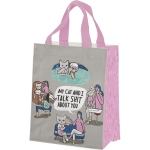My Cat And I Talk Shit About You Daily Tote Bag from Primitives by Kathy