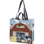 Double Sided Living The Farm Life Market Shopping Tote Bag from Primitives by Kathy
