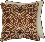 Burnt Orange Willow With Stitched Toweling Design Cotton Throw Pillow 20x20 from Primitives by Kathy