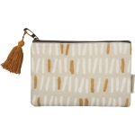 Full Lined Double Sided Parker Artisinal Design Cotton Zipper Pouch Handbag from Primitives by Kathy