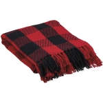 Red And Black Buffalo Check Cotton Throw Blanket 50x60 from Primitives by Kathy