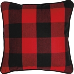 Red And Black Buffalo Check Decorative Cotton Throw Pillow 16x16 from Primitives by Kathy