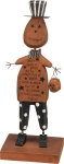 Jack Gave A Grin On Halloween Night Wooden Pumpkin Man Figurine 4x10 from Primitives by Kathy