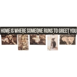 Home Is Where Someone Runs To Greet You Wooden Sign With Photo Holders 28.5 Inch from Primitives by Kathy