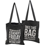 Teacher Does This Bag Make My Papers Look Graded Double Sided Daily Tote Bag from Primitives by Kathy