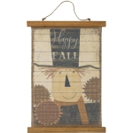 Scarecrow & Sunflower Design Happy Fall Decorative Hanging Canvas Wall Décor Sign from Primitives by Kathy