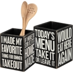 Kitchen Messages Homemade Decorative Wooden Kitchen Utensil Holder from Primitives by Kathy