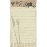 Large Fork & Knife Design Let's Go Shopping Paper Notepad (60 Page) from Primitives by Kathy