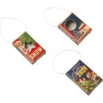 Set of 3 Vintage Mini Snow Box Hanging Christmas Ornaments from Primitives by Kathy