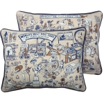 Dog Lover World's Best Dog Park Decorative Cotton Throw Pillow 15.75 Inch x 12 Inch from Primitives by Kathy
