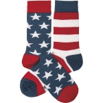 Stars & Stripes Colorfuly Printed Cotton Socks from Primitives by Kathy
