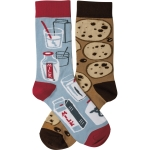 Milk & Cookies Colorfully Printed Cotton Socks from Primitives by Kathy