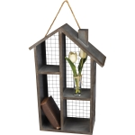House Shaped Metal Hanging Shelf With Four Cubbies from Primitives by Kathy