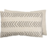 Cream Colored Chevron Print Design Decorative Cotton Throw Pillow 25x15 from Primitives by Kathy