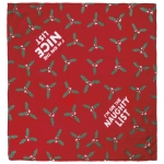Large I'm On The Nice List Reversible Rayon Dog Pet Bandana 21x21 from Primitives by Kathy