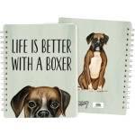 Dog Lover Life Is Better With A Boxer Double Sided Spiral Notebook (120 Lined Pages) from Primitives by Kathy