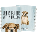 Dog Lover Life Is Better With A Bulldog Double Sided Spiral Notebook (120 Lined Pages) from Primitives by Kathy