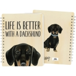Dog Lover Life Is Better With A Dachshund Double Sided Spiral Notebook (120 Lined Pages) from Primitives by Kathy