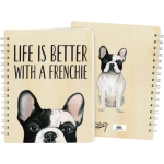 Dog Lover Life Is Better With A Frenchie Double Sided Spiral Notebook (120 Lined Pages) from Primitives by Kathy