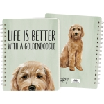 Dog Lover Life Is Better With A Goldendoodle Double Sided Spiral Notebook (120 Lined Pages) from Primitives by Kathy